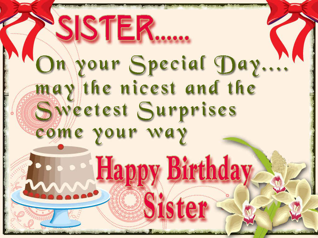 Sister birthday wishes images and images