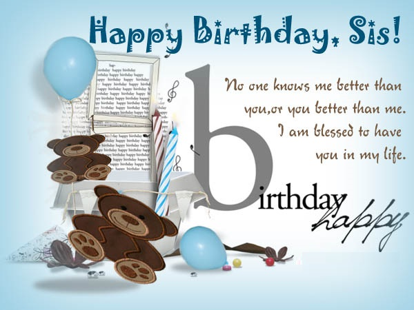 Happy Birthday wishes for sister images and wallpaper