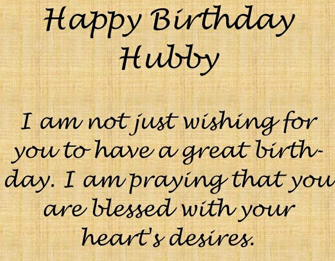 Happy Birthday Husband messages