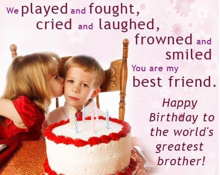 Bildergebnis für Birthday Wishes For Brother