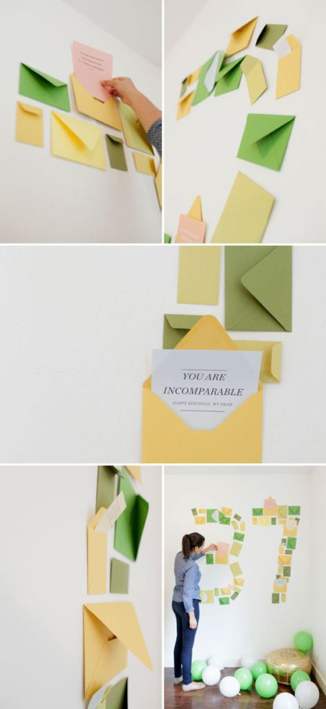 Number Shaped Envelope Surprise