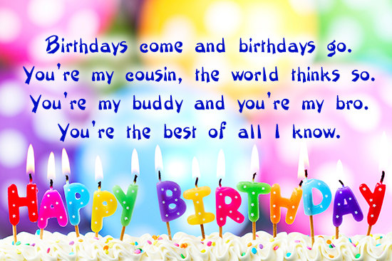 Happy birthday quotes and messages for cousin