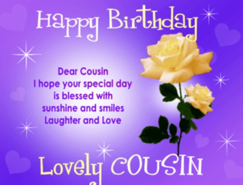 Happy Birthday Quotes Cousin ~ Happy birthday cousin quotes images pictures photos