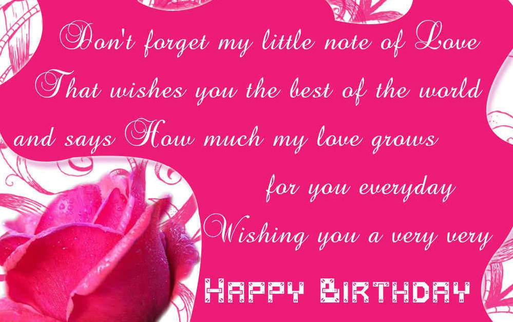 Best Wishes For Birthday Girl Friend : Happy birthday messages for girlfriend