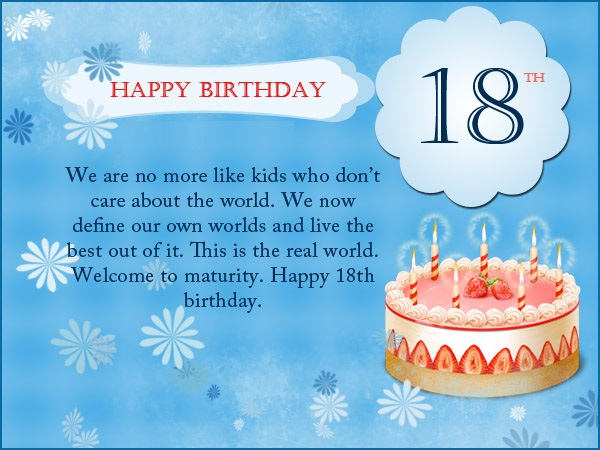Happy 18th birthday messages wishes and images
