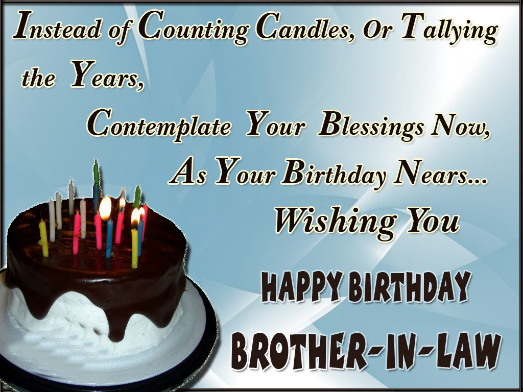 Happy Birthday Brother In Law Quotes Images And Messages