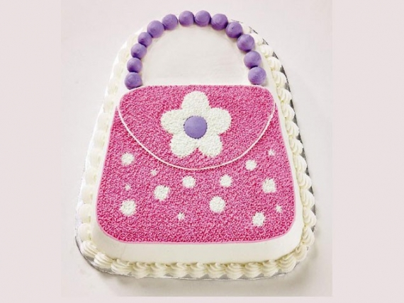kids birthday cake for girls-Purse-Cake