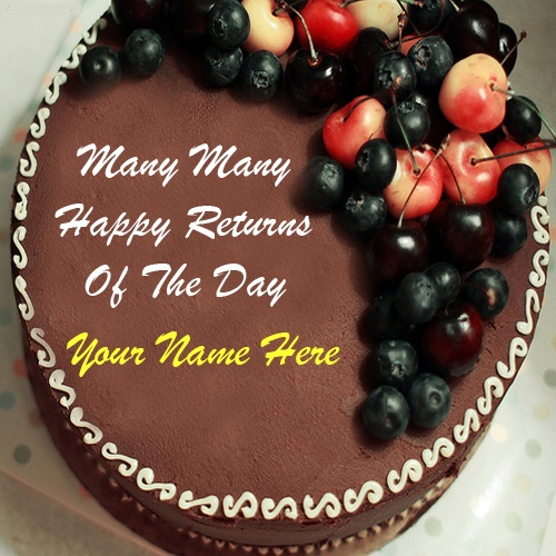 Happy Birthday Cake With Name And Picture