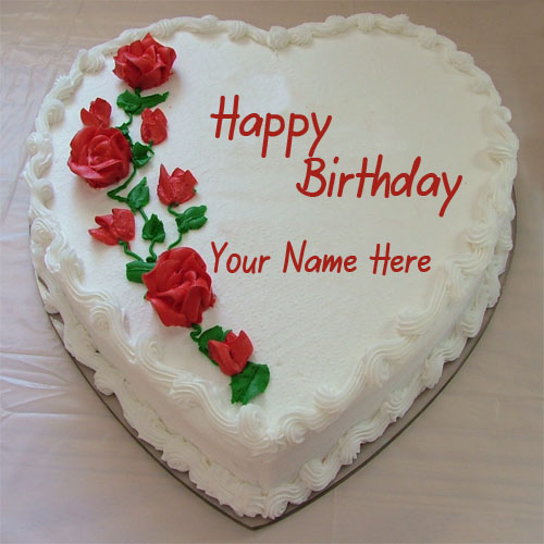 Happy Birthday cake with name for girlfriend or boyfriend