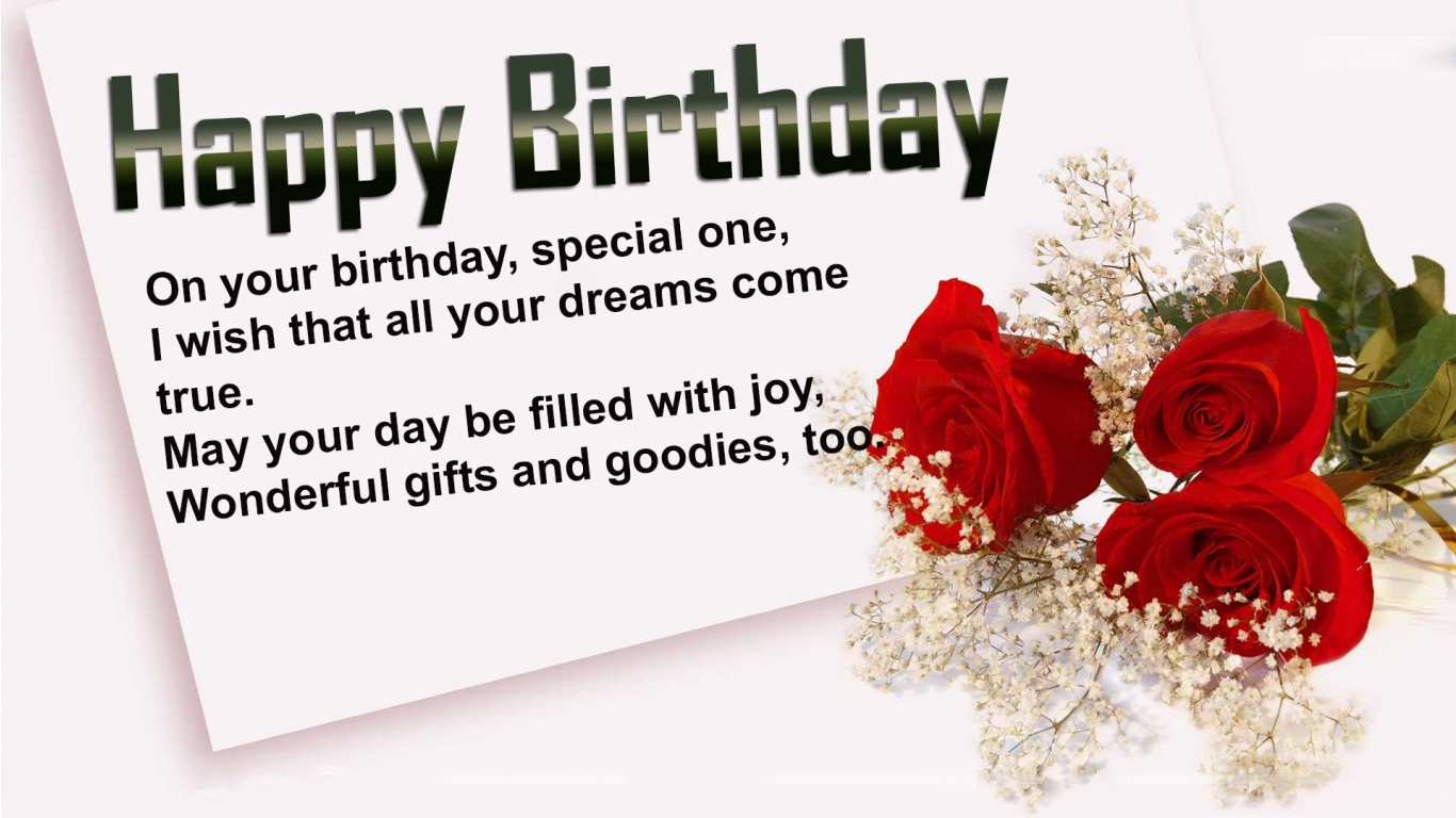Birthday wishes for someone special in your life