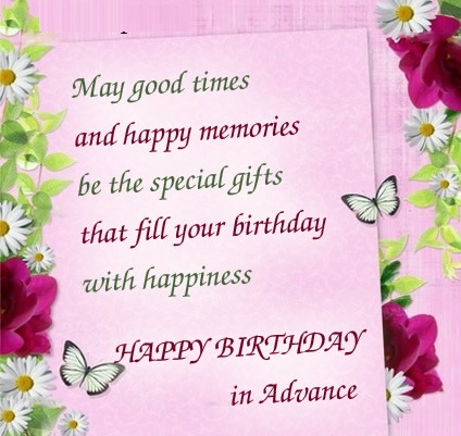 Advance Quotes Like Success Advance Happy Birthday Wishes To Friend