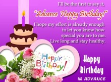 Advance birthday wishes images