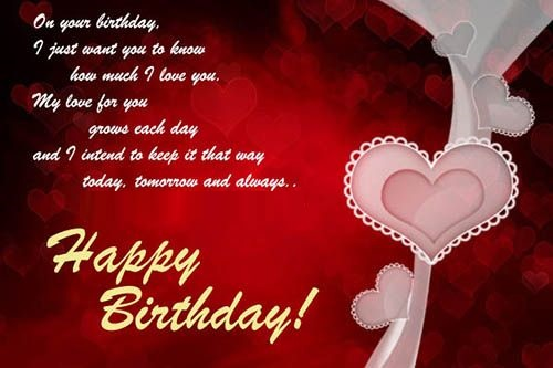 happy birthday wishes messages for girfriend