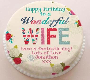 Birthday cake for wife